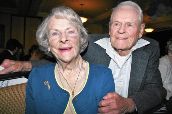 Campbell Center founders Jerry and Phyllis Campbell together at a dinner