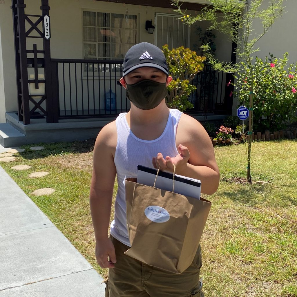 man holding bag